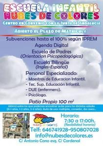 Publicidad guarderia Nubes de Colores